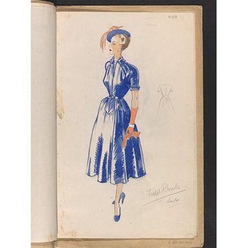 Interpreting Narrative 1940 S Fashion Designers Afternoon Dress 1940s Fashion Fashion Design