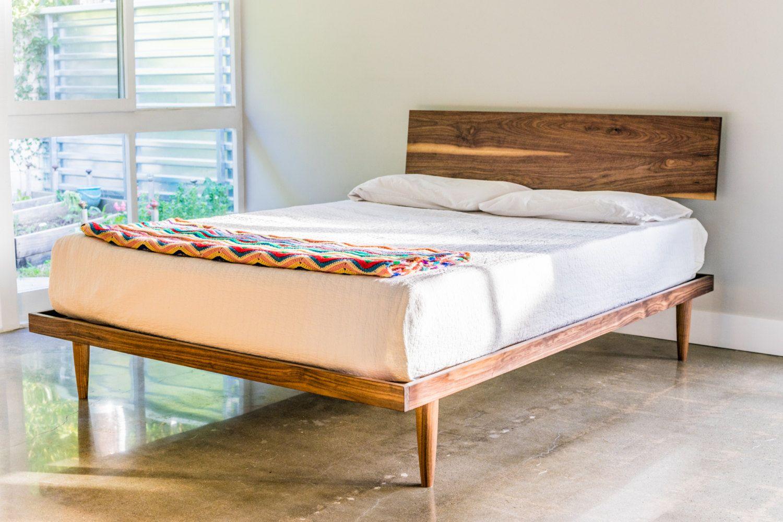 Best The Western Bed Mid Century Modern Style Platform Bed 400 x 300