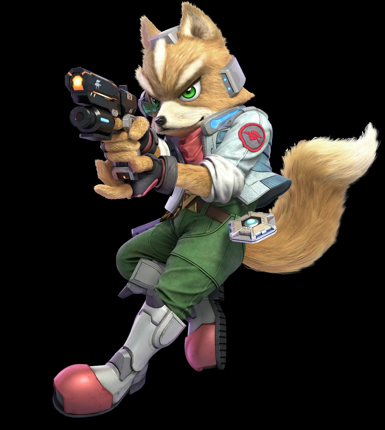 Fox As He Appears In Super Smash Bros Ultimate Star Fox Pokemon Personagem
