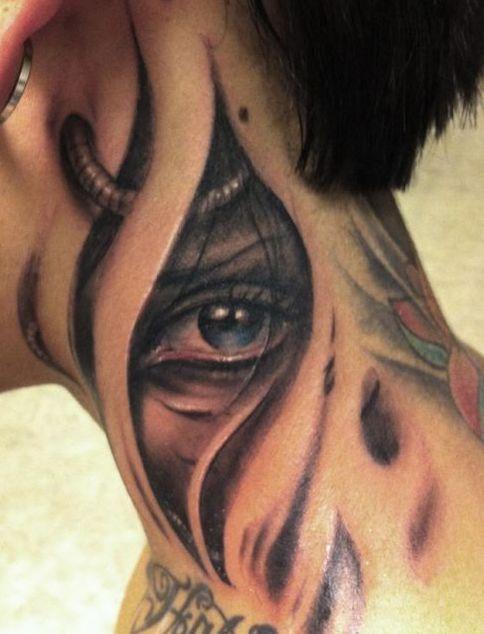 tattoos hals nacken