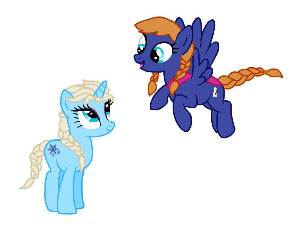 Anna And Elsa As Ponies