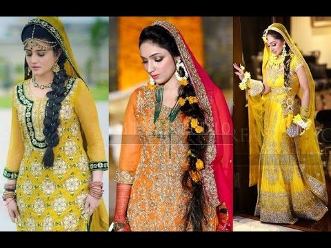 Lehenga For Mehndi Ceremony : Pakistani bridal lehenga dresses designs styles