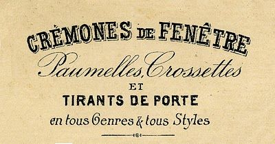 Vintage Clip Art - French Typography