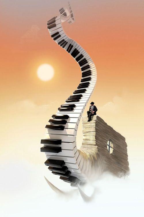 trompa piano surrealista | Tumblr
