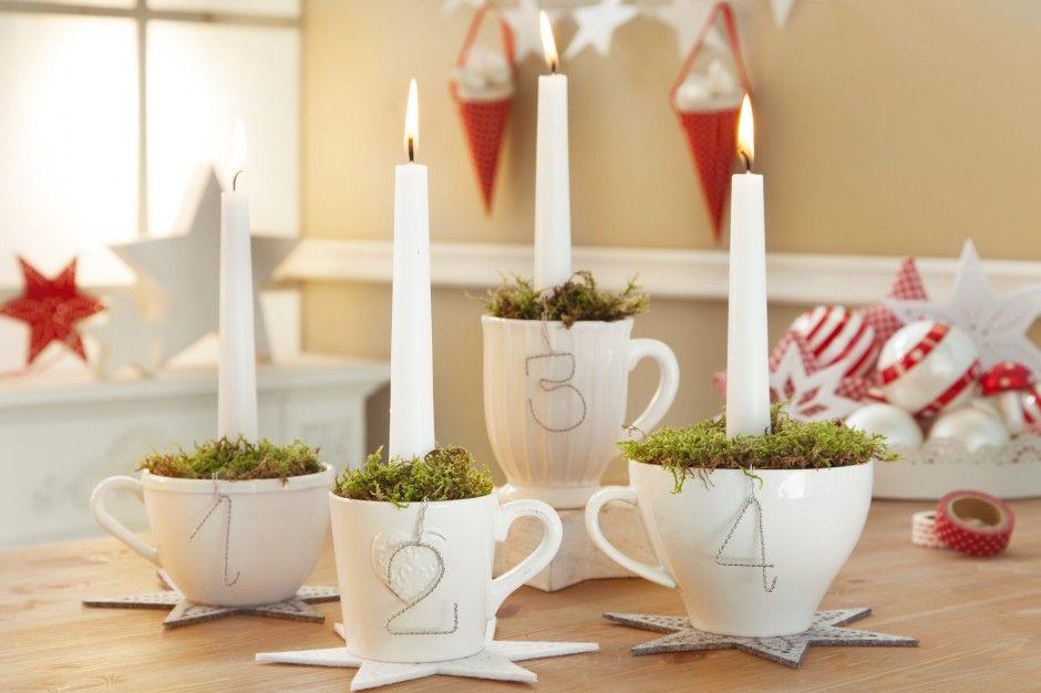 Adventskaffee in rot & weiß - wie gemütlich! | Xmas, Christmas ...