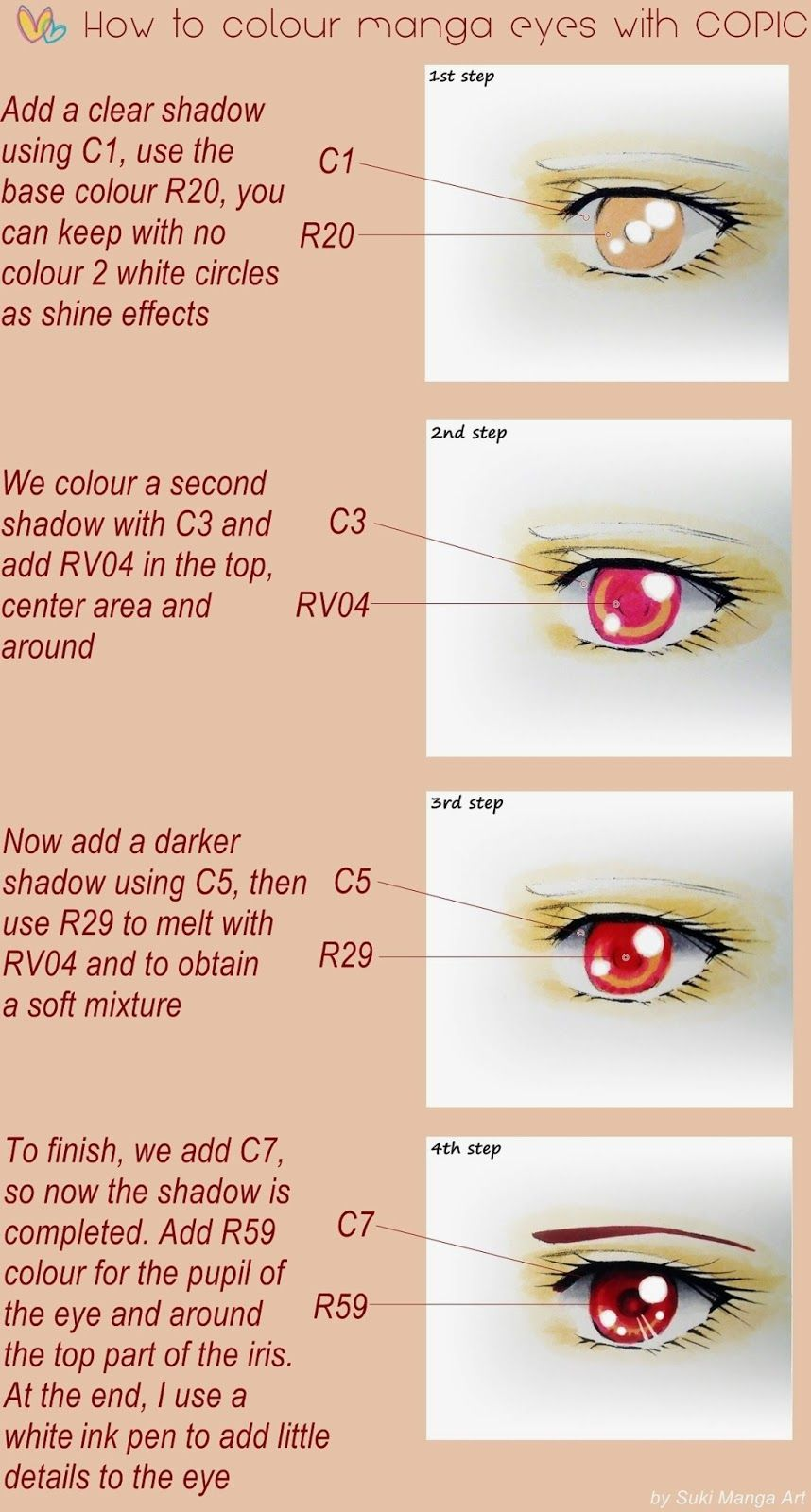 A Little Guide On How I Colour An Eye Hope You Guys Like It And Thank You All So Much For 9k Eye Eyes Cop Anime Eye Drawing
