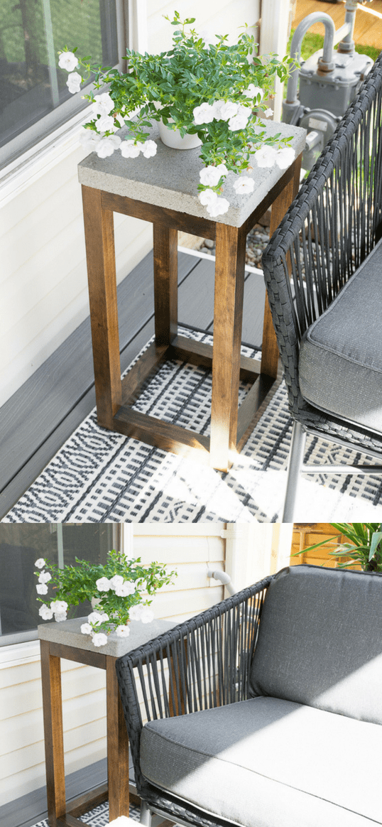 Concrete Outdoor Side Table Made From Pavers Free Build Plans