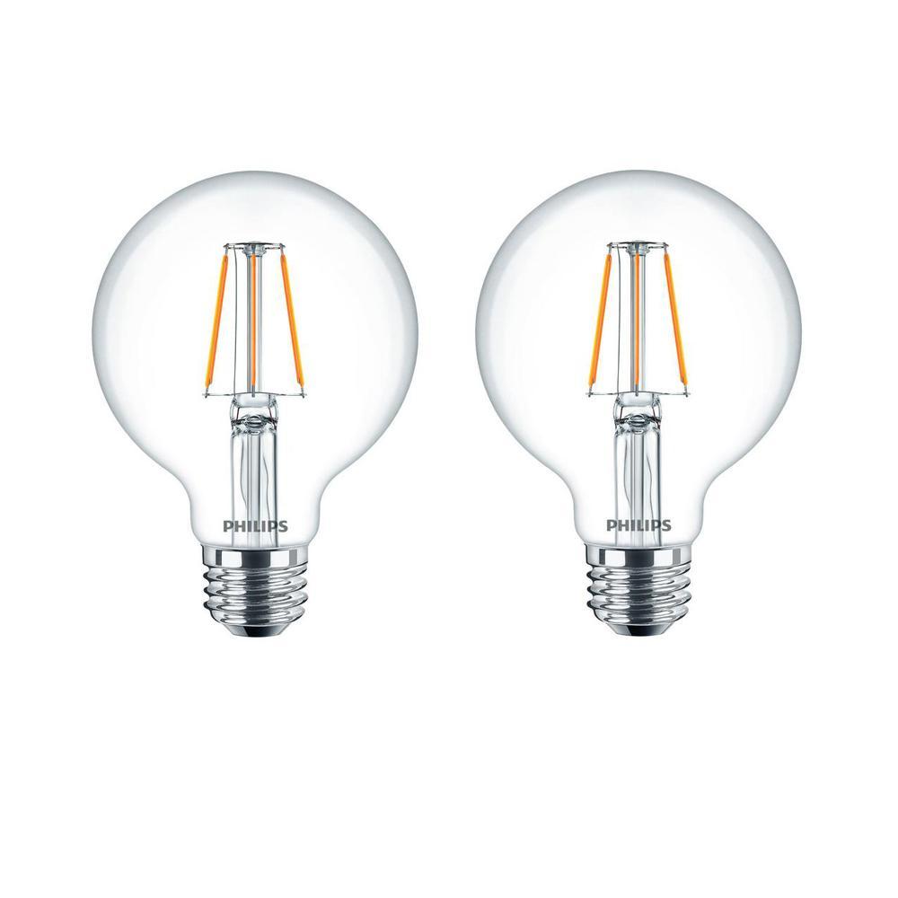 Philips 60Watt Equivalent G25 Dimmable LED Indoor/Outdoor