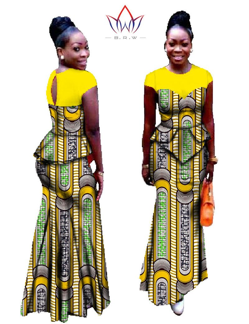 01757c0710aac Vestidos Africa Clothing Two Piece Set Plus Size Dashiki African ...