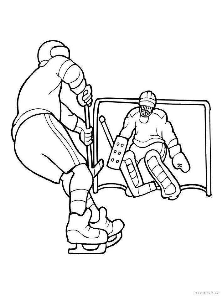 Pin uživatele Alí J. na nástěnce Omalovánky | Hockey ...