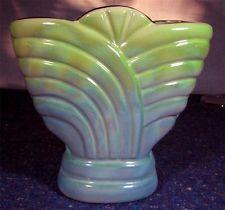 Vintage Art Deco DIANA Fan VASE Hollywood Lustre Glaze Pottery V 103