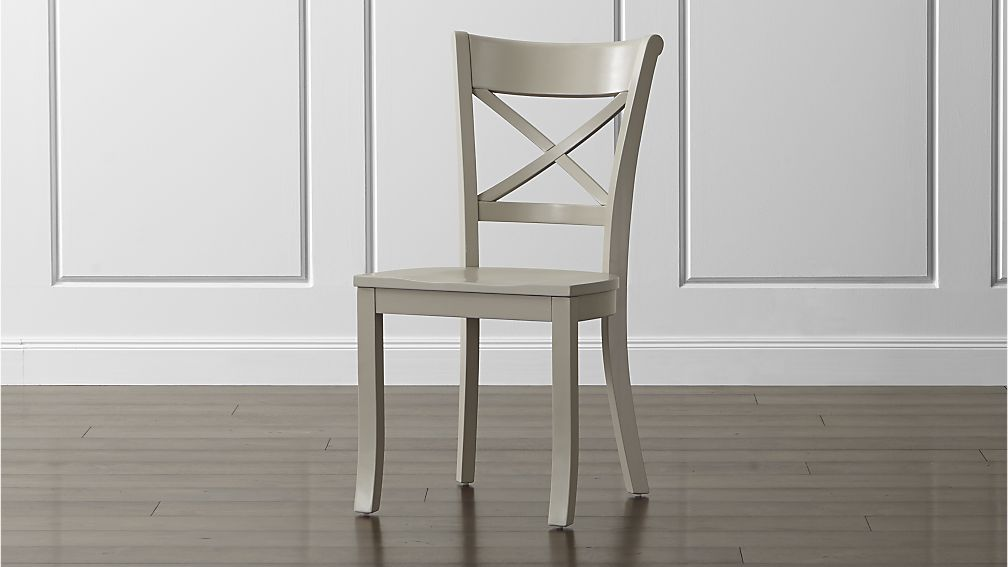 Vintner Dove Wood Dining Chair Reviews Crate And Barrel