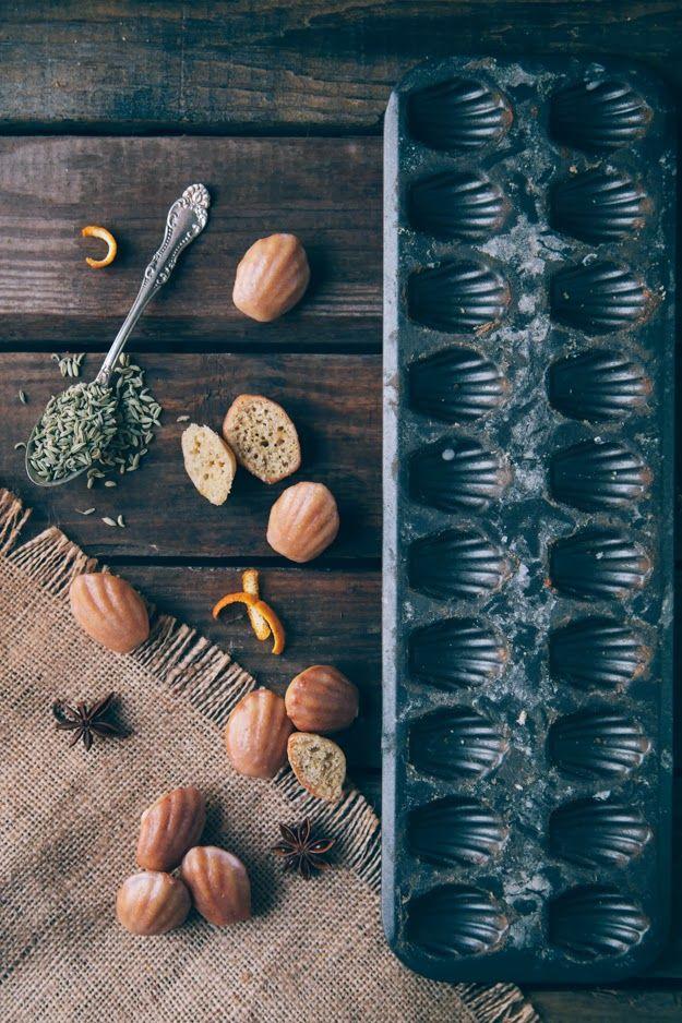 Spiced Bourbon Madeleines #recipe