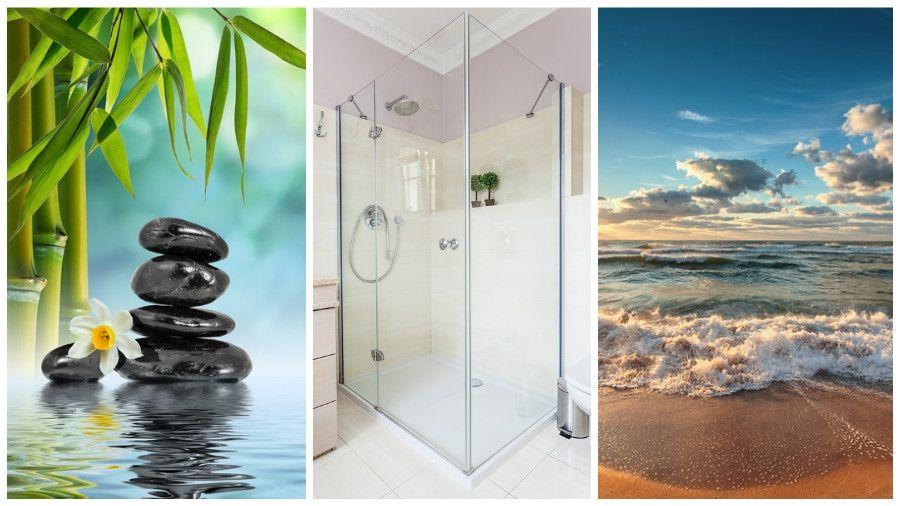 Duschruckwand Ohne Fliesen Kreative Motive Fur Ihre Dusche Duschruckwand Dusche Duschwand