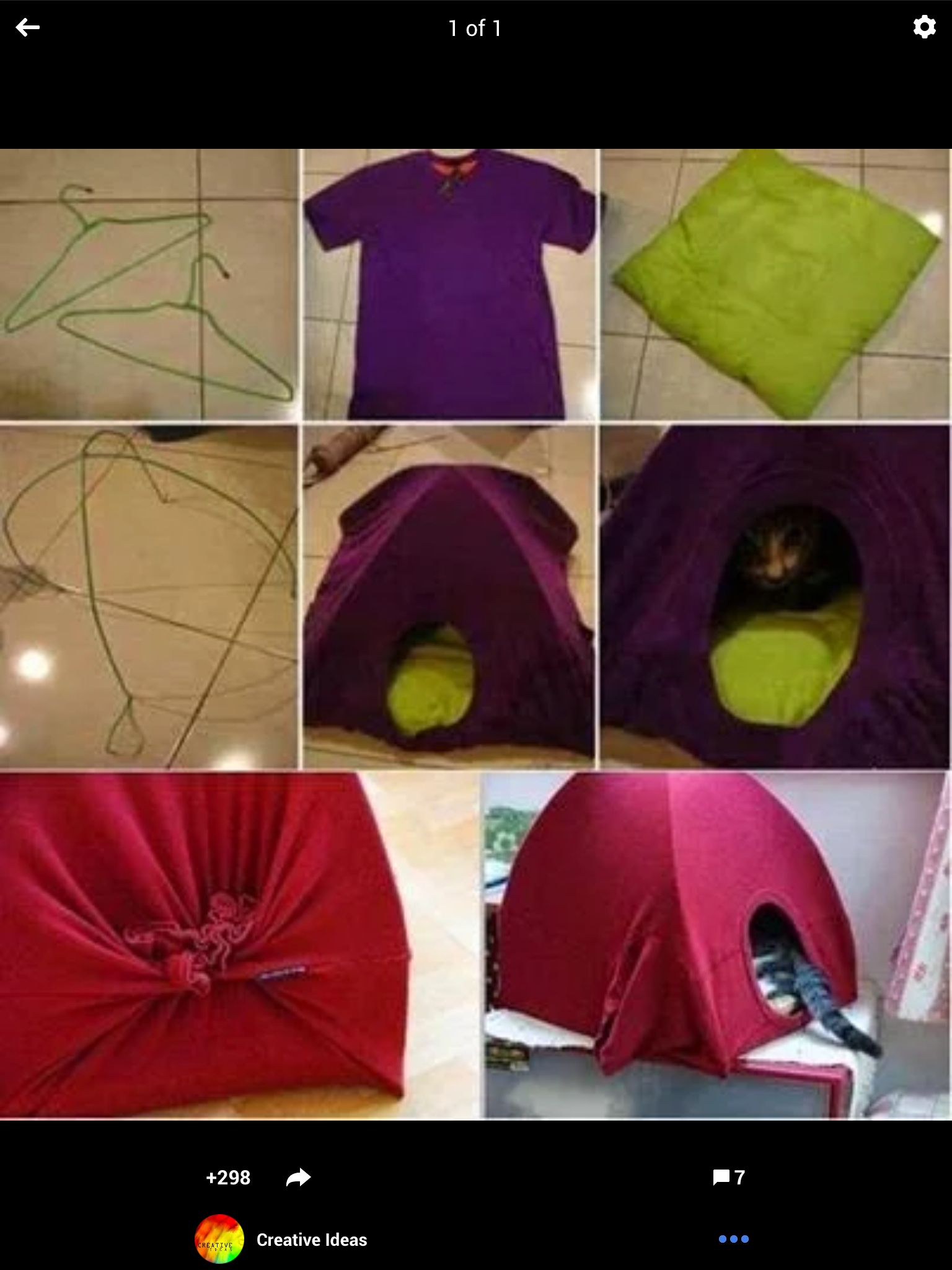 2hangers and. Large tshirt. Neat ifpdea, found it on google plus