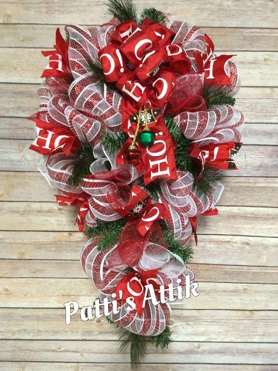 Christmas Swag Christmas Wreath Holiday Swag Door di Pattisattik
