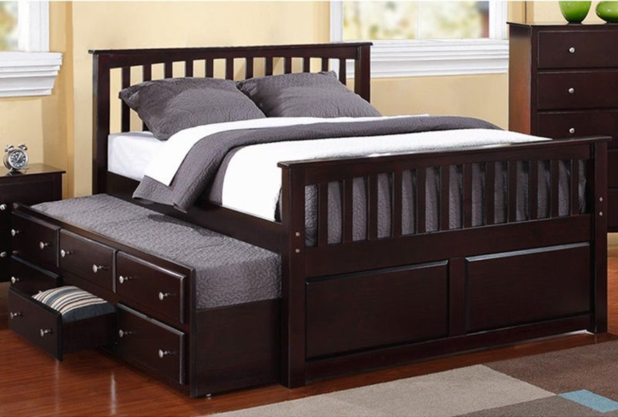 Image Result For Queen Size Beds With Slide Out Bed And Dresser