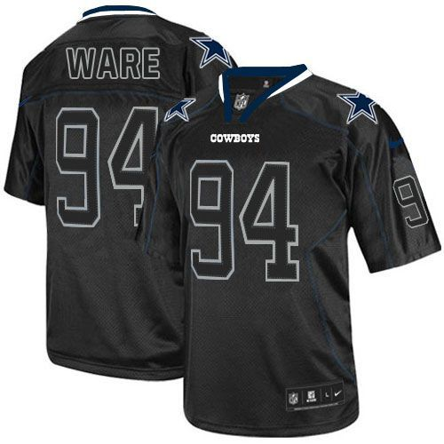 NFL Men s Elite Nike Dallas Cowboys  94 DeMarcus Ware Lights Out Black  Jersey 131f3969e