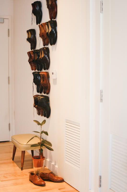 Old Brand New Shoe Wall Shoe Wall Wall Shoe Rack Home