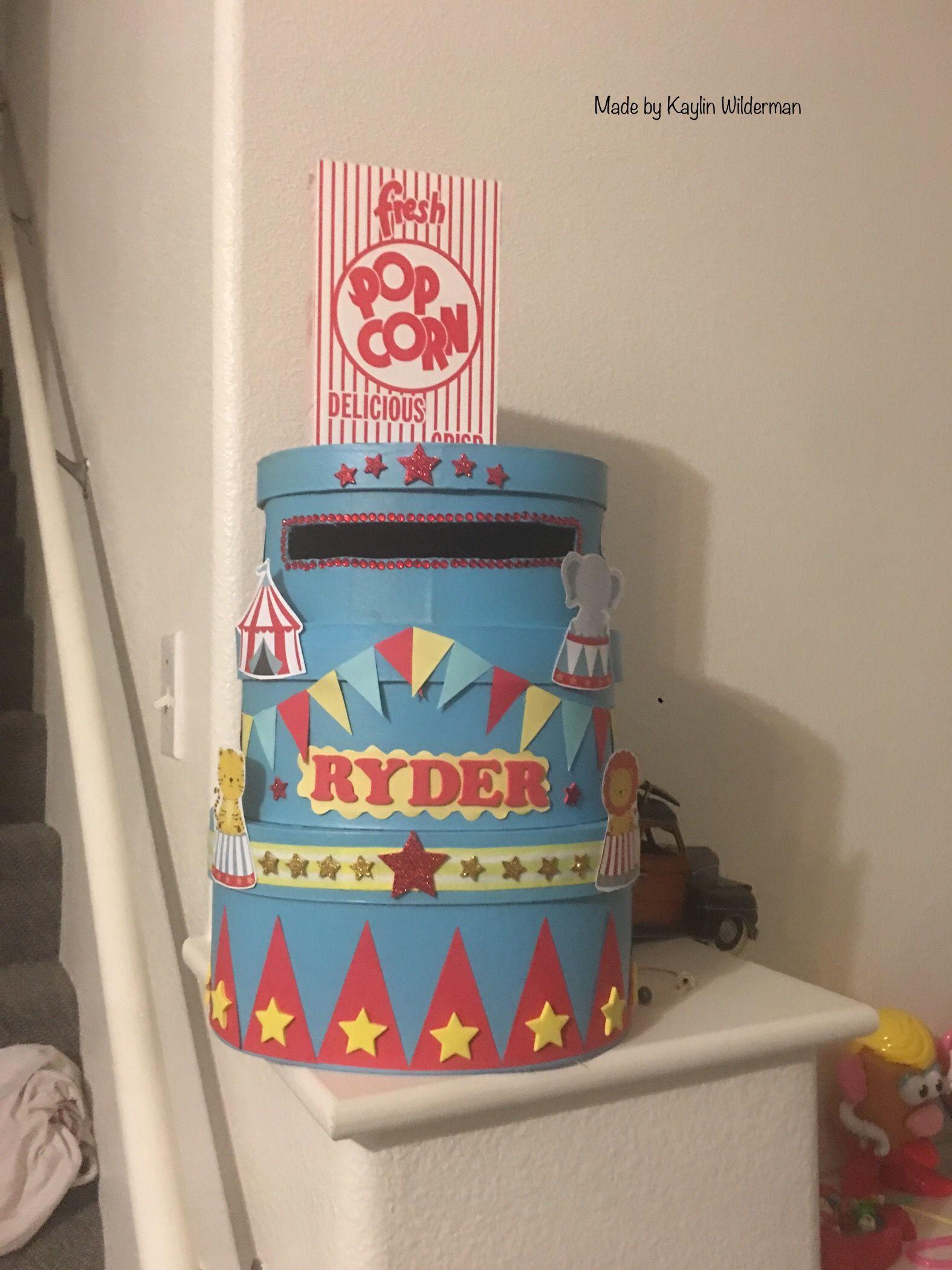 Circus/Carnival theme 1st Birthday card box DIY -Paper ...