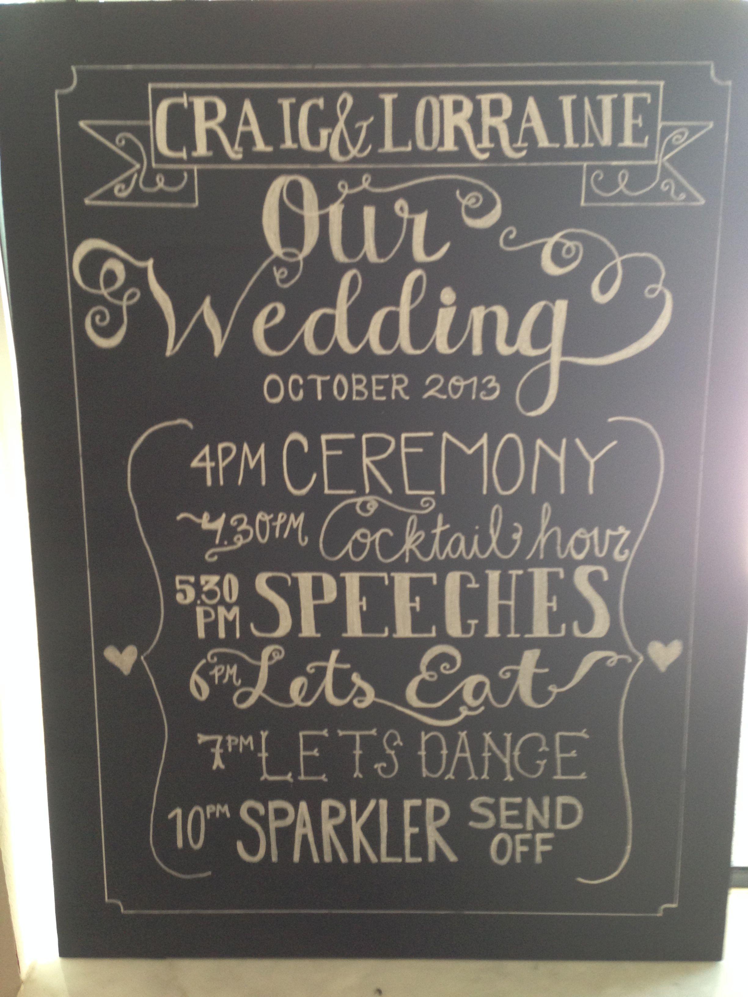 I love the idea of a wedding
