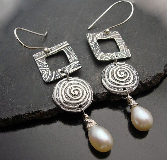 Pearlicious  Silver and Freshwater Pearl by designsbysuzyn on Etsy, $75.00