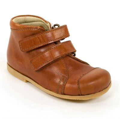Arauto Rap - starter sko m velcro, cognac
