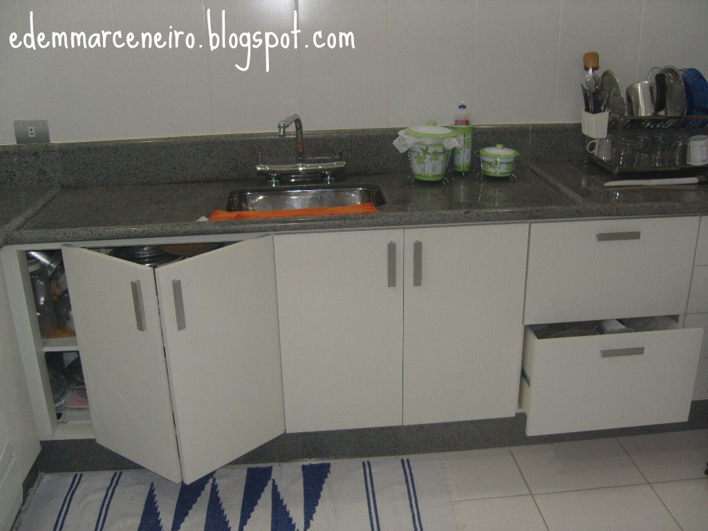 Cozinha Planejada Sob Medida Arm Rio Sob Bancada Edem Marceneiro  ~ Porta Sanfonada Para Cozinha