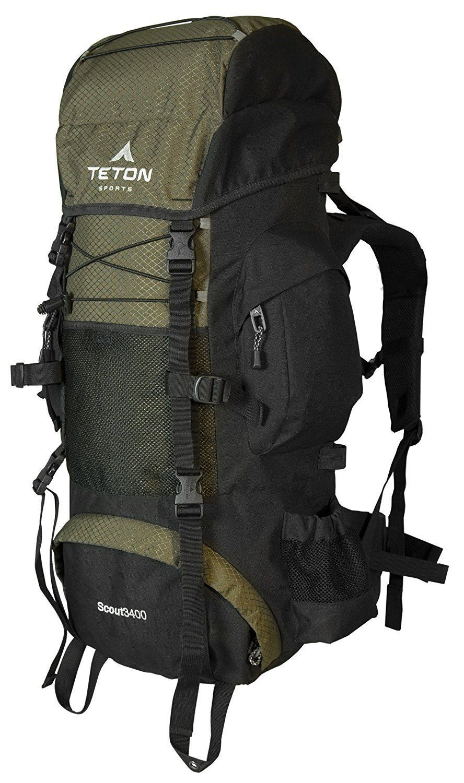 TETON Sports Scout 3400 Internal Frame Hiking Camping Backpack Sleeping Bag Tent