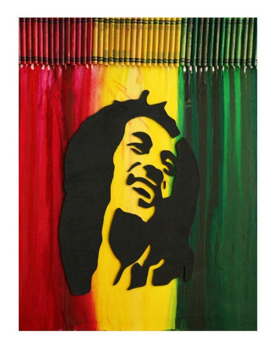 Melted Crayon Art Bob Marley By Meltgallery Crayon Art Crayon