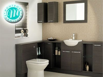 Dark Wood Bathroom Furniture Modern Bathroom Corner Unit Fitted Bathroom