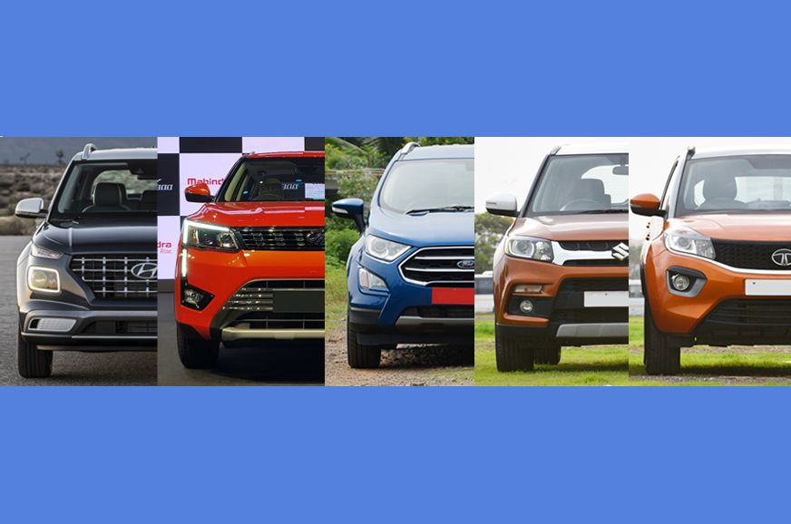 Venue Vs Xuv300 Vs Ecosport Vs Brezza Vs Nexon Specifications