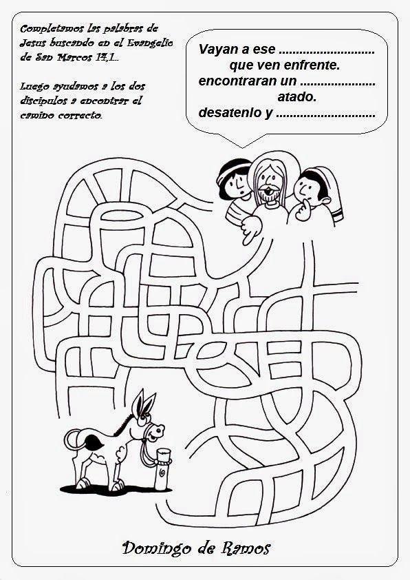 Domingo de Ramos | Dibujos para colorear en catequesis | Pinterest ...