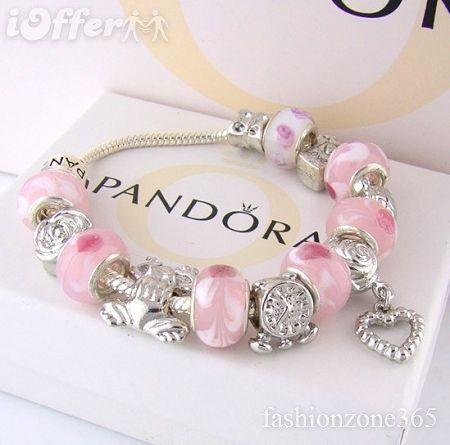 Pretty Pink Pandora Would Love To Have A Pandora Charm Bracelet One Day Pandora Bracelet Designs Pink Charm Bracelet Pandora Bracelet Charms
