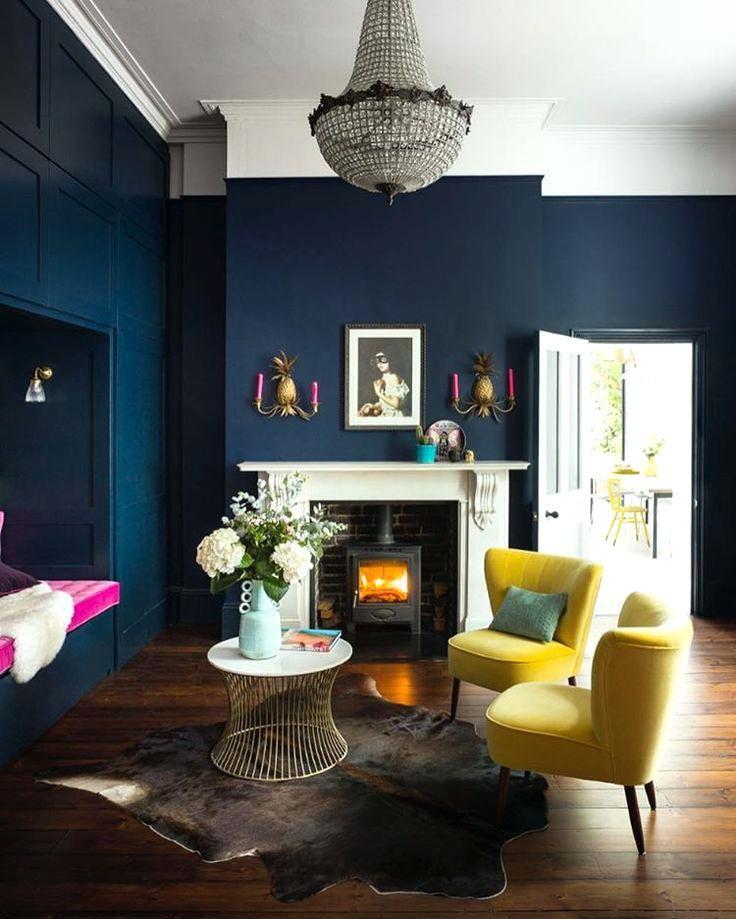 Dark Blue Rooms Navy Blue Living Room Inspiring Navy Blue ...