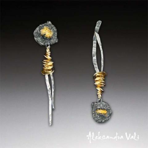 aleksandra vali jewelry | Aleksandra Vali | Art Jewelry Earrings | Pinterest