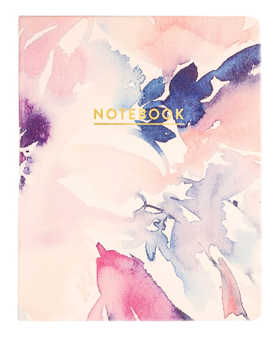 """Notebook Journal Is 8""""x10"""" And Has A Soft Watercolor Cover"""