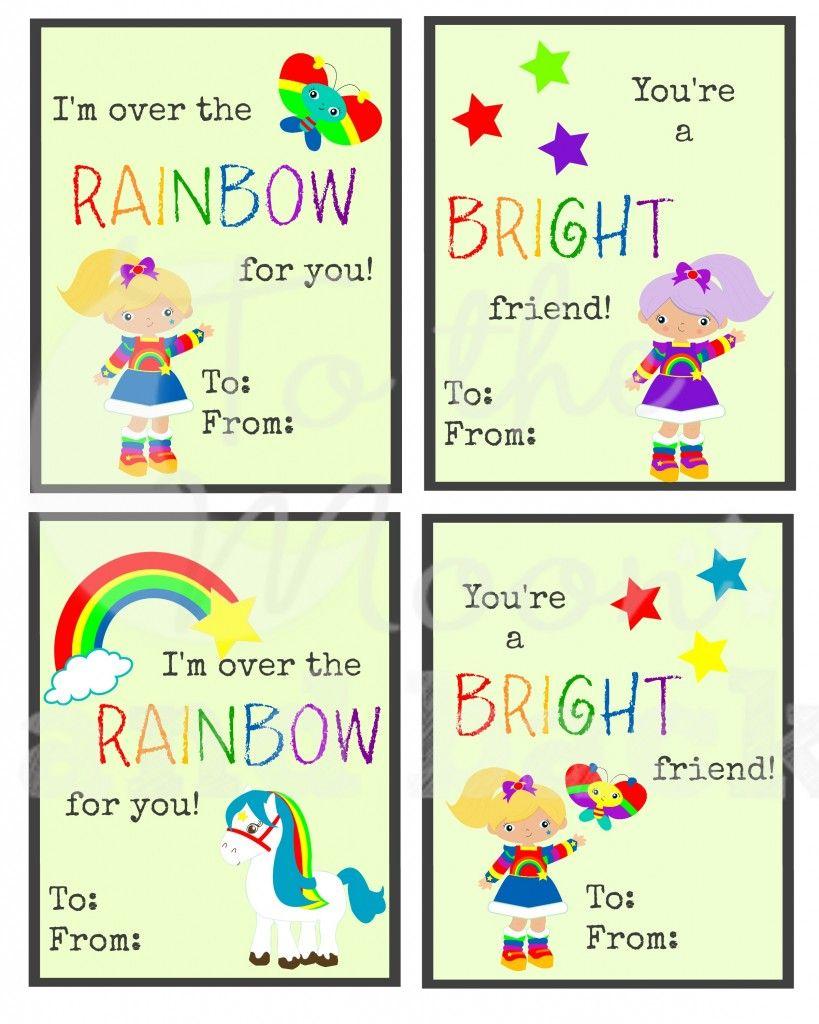 FREE Rainbow Girl Valentines   Rainbow brite and Rainbows