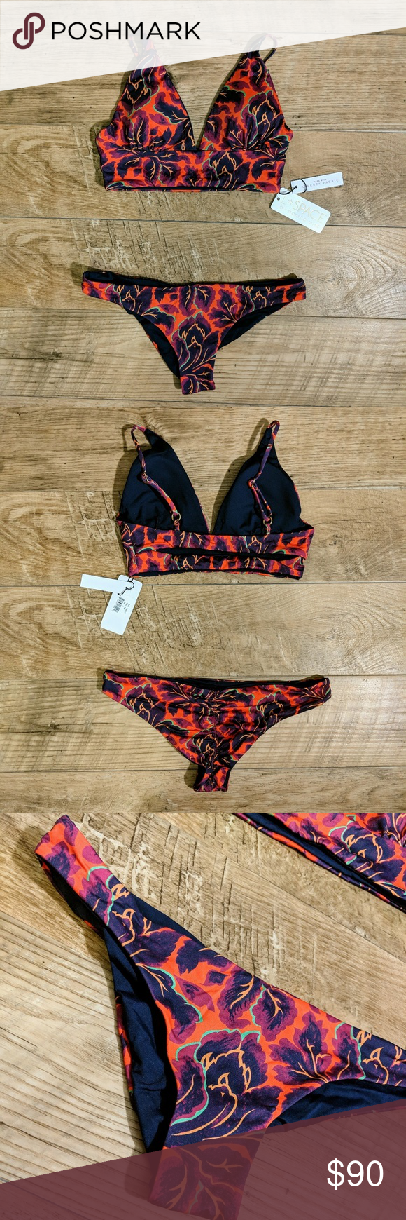 fd743e610758c9 ✨L Space Liberty Fleur Reversible Bikini NWT✨ 💮Features • The top ...
