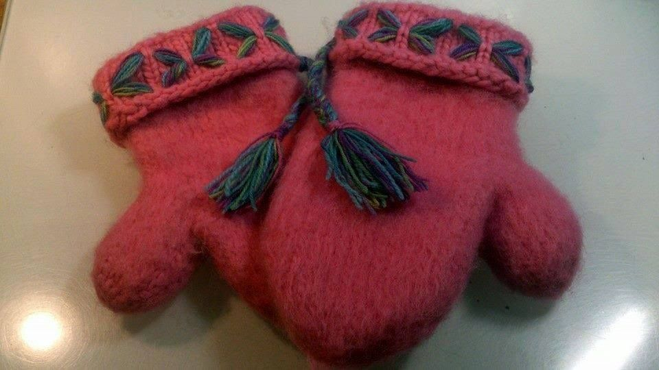 mittens to my daughter