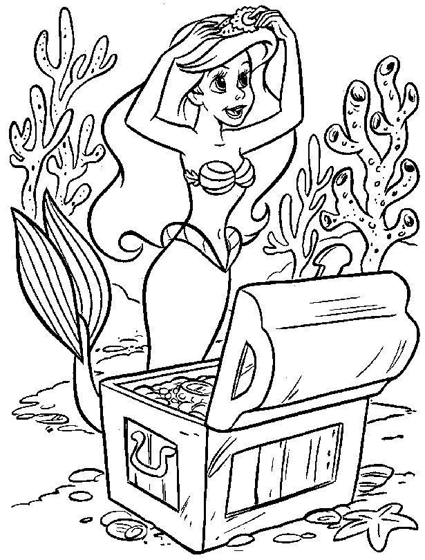 dibujos de ariel para colorear | LA SIRENITA | Pinterest | Dibujos ...