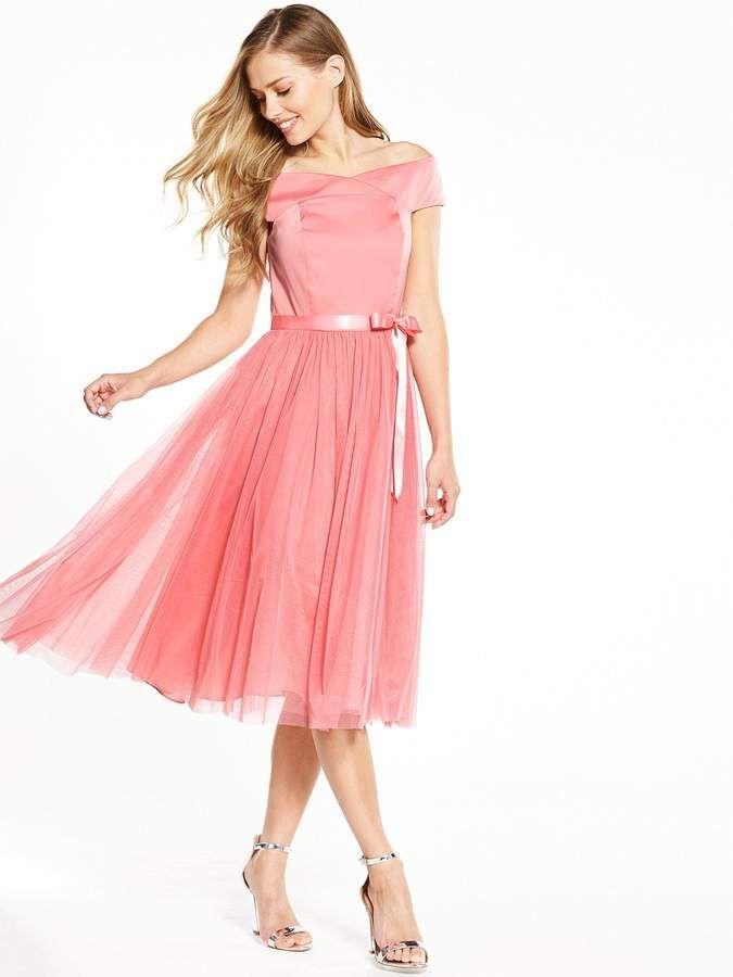 V by Very Bridesmaids Bardot Tutu Prom Dress. V by Very Bridesmaids ...