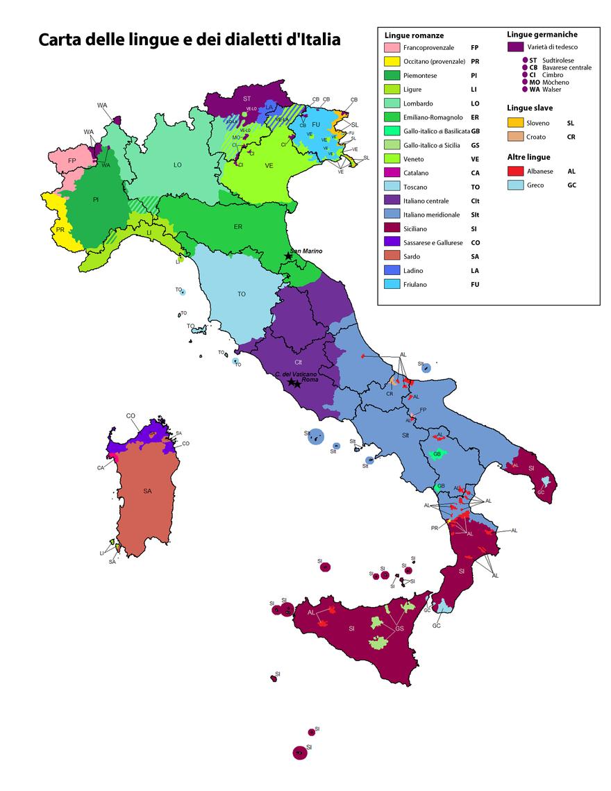 Mappa Dell Italia Wikipedia.Bilinguismo Amministrativo In Italia Mappa Dell Italia Mappa Mappe Antiche
