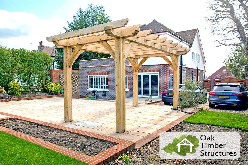 Oak Pergola Full Build Photo 9 Of 11 Pergola Garden Vines Backyard Pergola