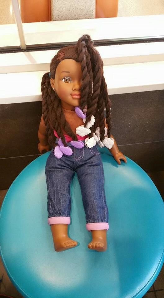 My 9yo Daughter Loves Making Clothes For Her Baby Dolls And Herself She Also Styles Her Baby Dolls With Ga Baby Doll Hair Baby Hairstyles How To Make Clothes