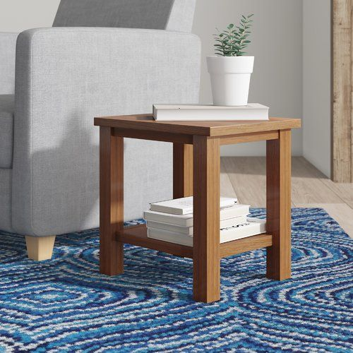 Red Barrel Studio Thunderhead Oak Side Table Side Table With Storage Table Small Living Rooms