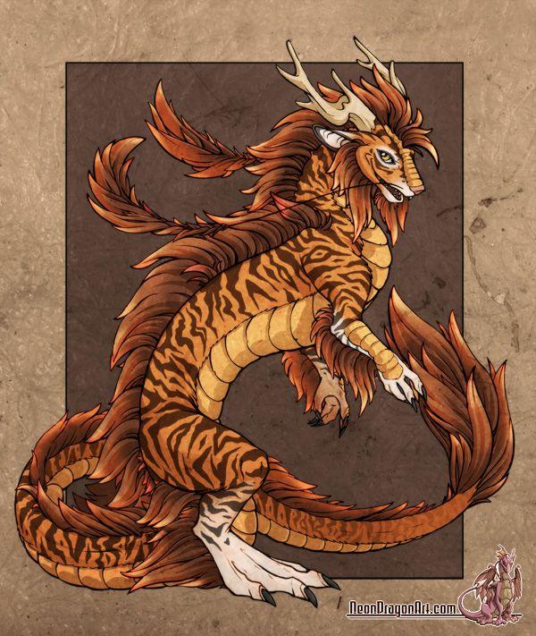 Tiger Dragon Neon Dragon Art Work In 2018 Pinterest Dragons