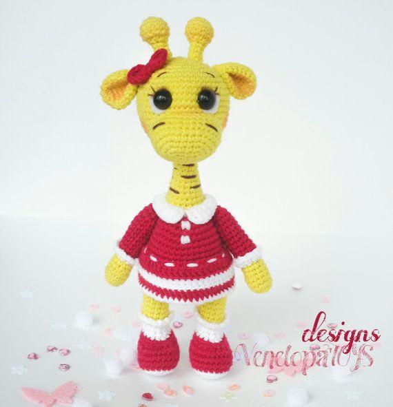 PATTERN Girl Giraffe crochet amigurumi от VenelopaTOYS на Etsy ...