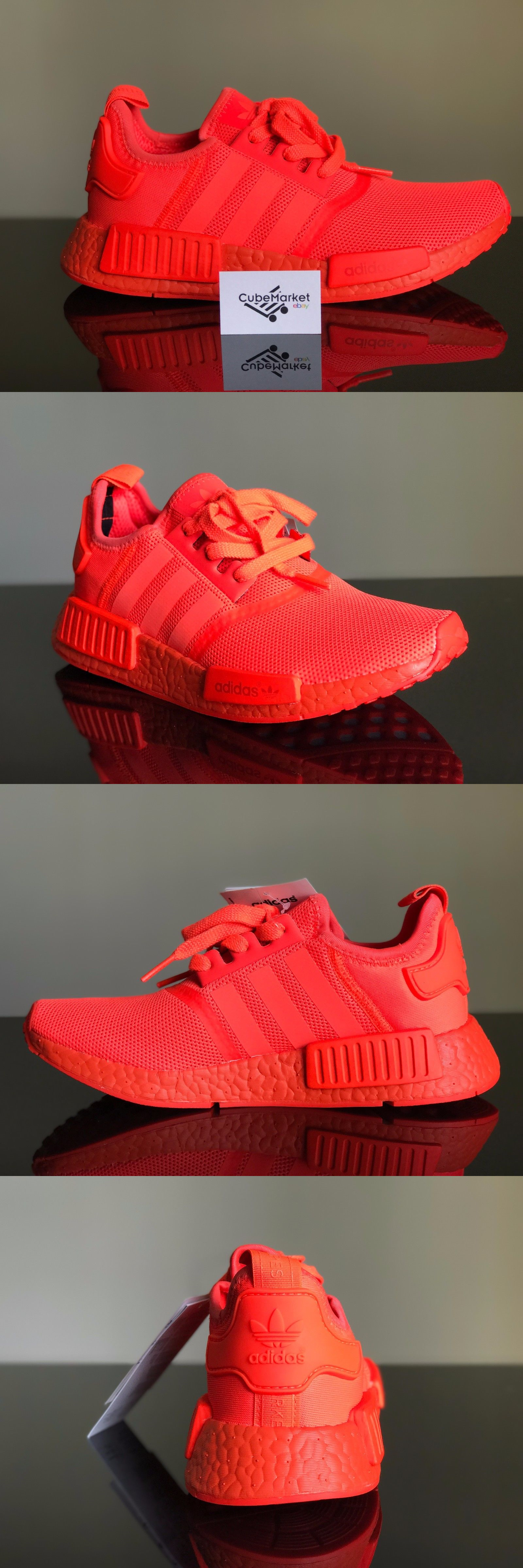 61e861623 Men 158952  New Men S Adidas Nmd R1 Solar Red Triple Red S31507 Size ...