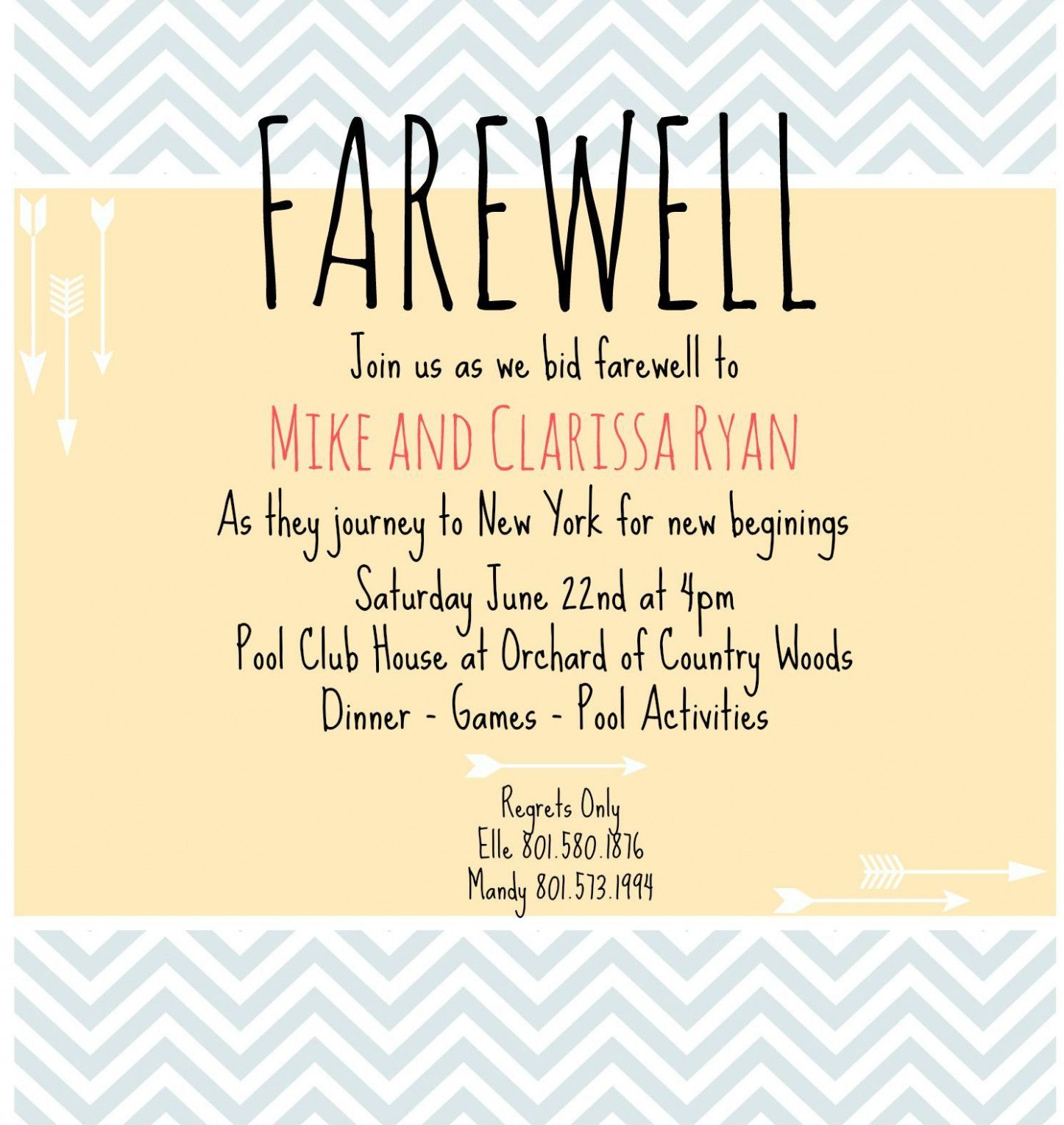 Invitation Card For Teachers On Farewell Party  Farewell party